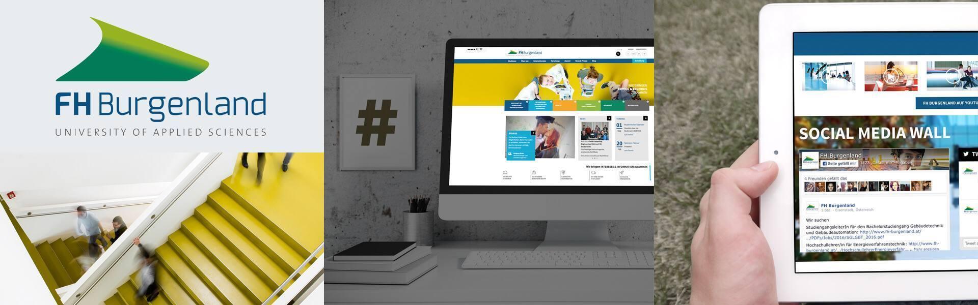 Collage der Fachhochschule Burgenland Homepage