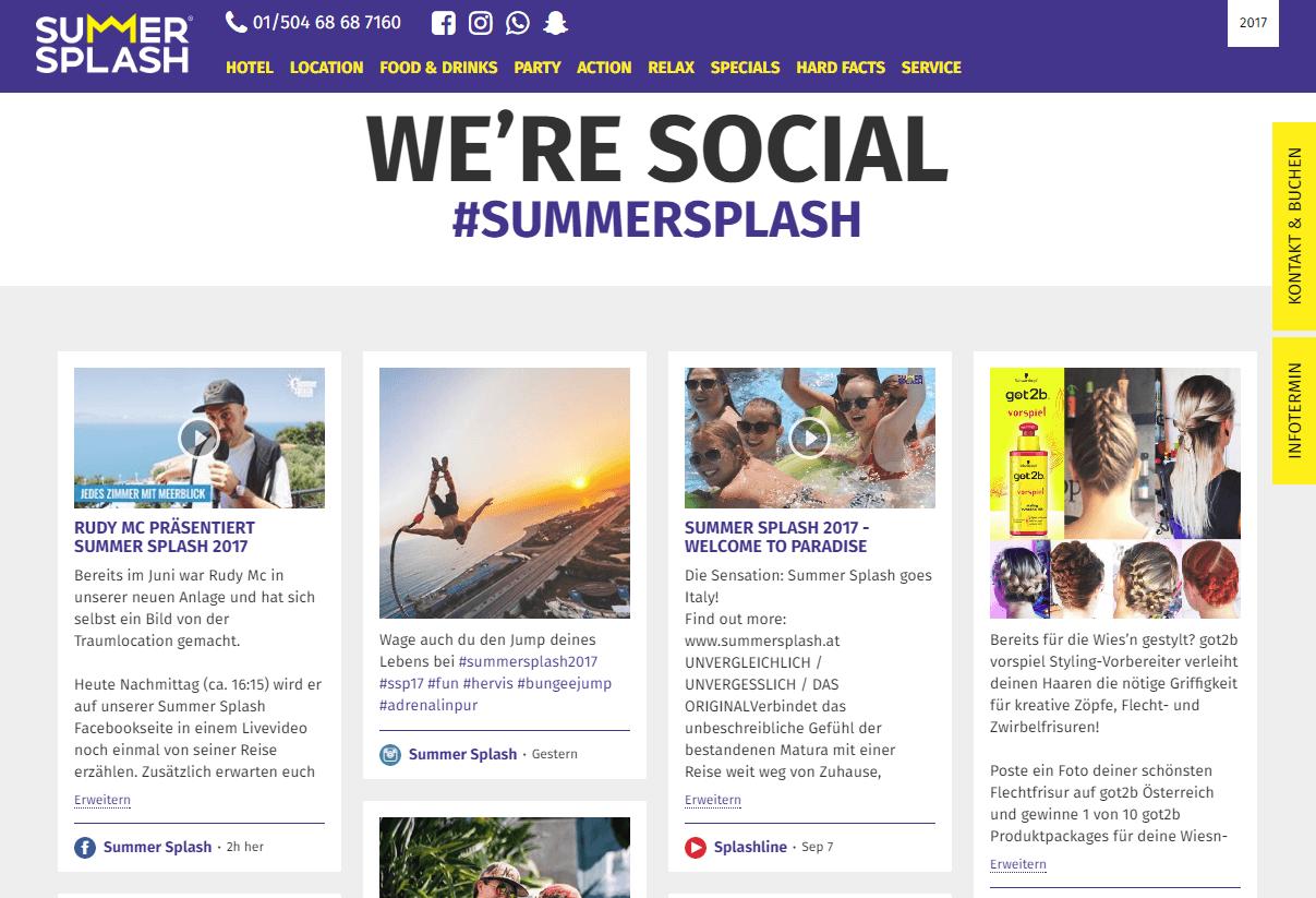 Summersplash Social Wall