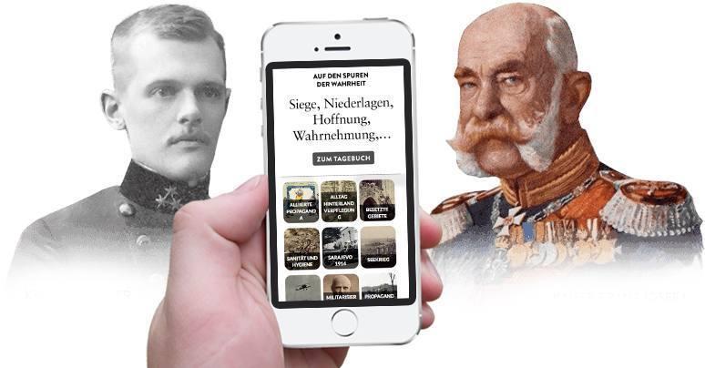 Erster Weltkrieg Tagebücher - Responsive auf iPhone