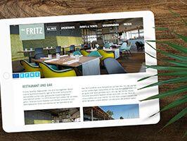 dasFritz Homepage auf iPad